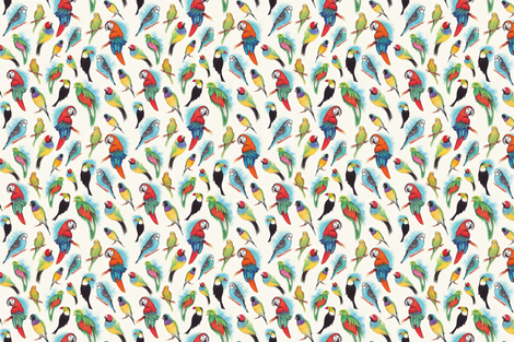 Birds fabric by cassiopee on Spoonflower - custom fabric