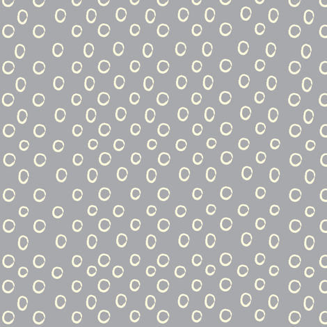 Gray Dots fabric by anna_gregory on Spoonflower - custom fabric
