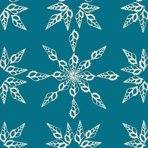Tibia Pattern Marine Blue Inverse