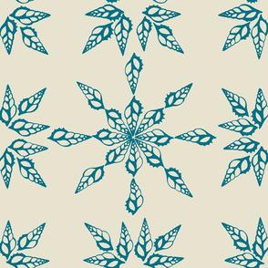Tibia Pattern Marine Blue