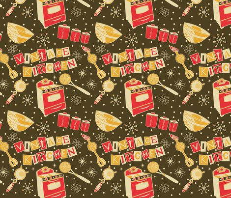 Vintage_Kitsch_2 fabric by julistyle on Spoonflower - custom fabric
