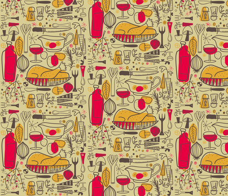Sunday Roast fabric by brightonbelle on Spoonflower - custom fabric