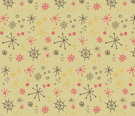 Atomic Fallout fabric by brightonbelle on Spoonflower - custom fabric