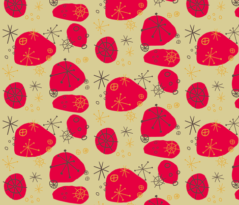 Atomic Fallout - Mushroom fabric by brightonbelle on Spoonflower - custom fabric