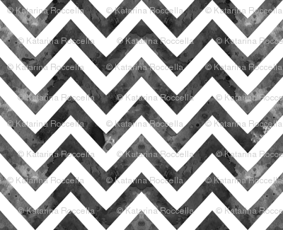 watercolor chevron grey white