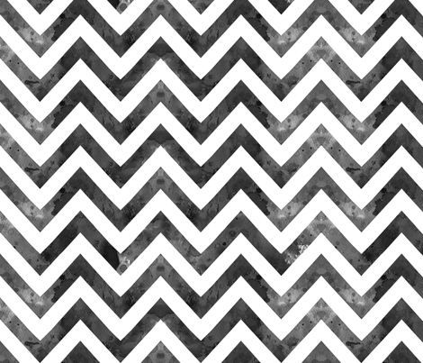 watercolor chevron grey white fabric by katarina on Spoonflower - custom fabric