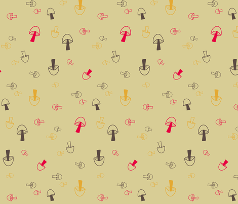 Mushers fabric by brightonbelle on Spoonflower - custom fabric