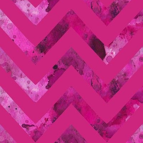 watercolor chevron hot pink and pink