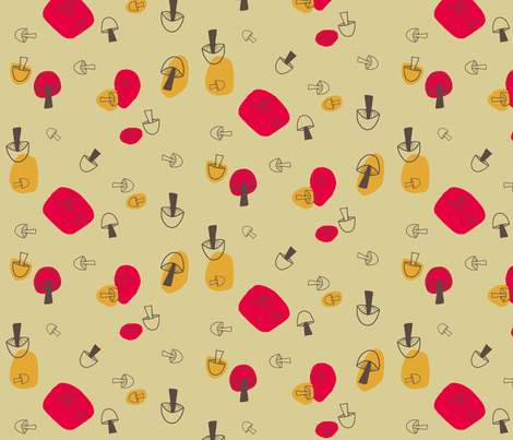 Shroomies fabric by brightonbelle on Spoonflower - custom fabric