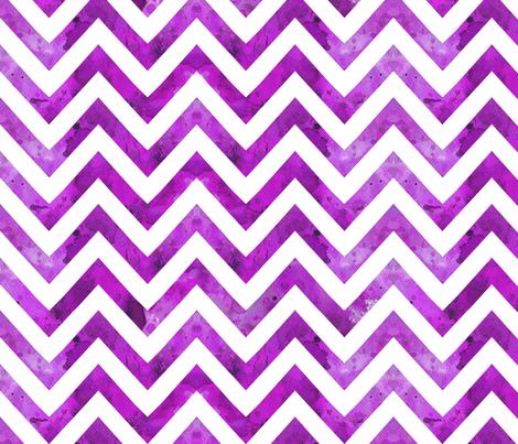 watercolor chevron purple darker fabric by katarina on Spoonflower - custom fabric
