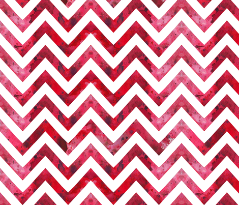 watercolor chevron red white fabric by katarina on Spoonflower - custom fabric