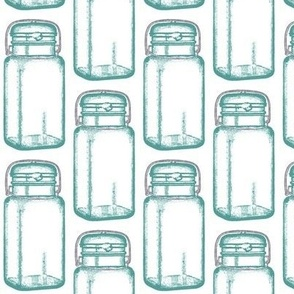 Mason Jar - sea glass green