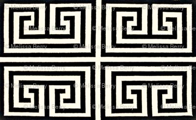 Greek Key-Black