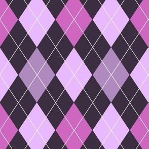 Purple Argyle (Dark)