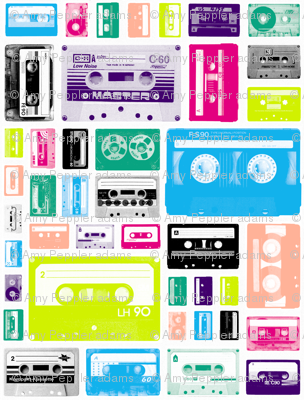 Mix Tapes (Midi) || retro 70s 80s cassette music rock and roll collage vintage analog