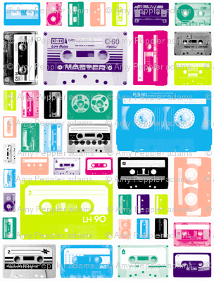 Mix Tapes (Mini) || retro 70s 80s cassette music rock and roll collage vintage analog