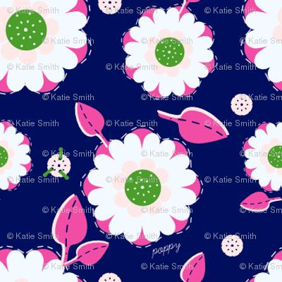 White & Pink Poppies
