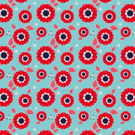 Circus Poppies fabric by eppiepeppercorn on Spoonflower - custom fabric