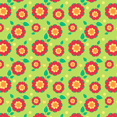 The Pretty Poppies fabric by eppiepeppercorn on Spoonflower - custom fabric
