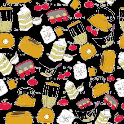 Pip Pip Hooray Retro Kitchen Fabric