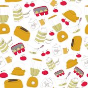 Pip Pip Hooray Retro Kitchen Fabric