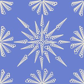 Turretella Pattern Sea Lavender Inverse