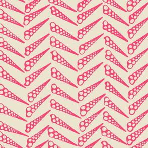 Herringbone 2 Tropical Pink