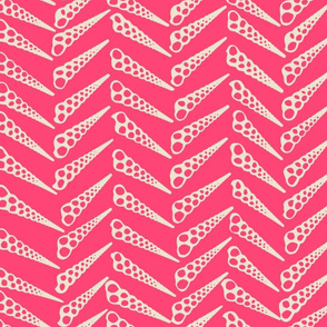 Herringbone 2 Tropical Pink Inverse