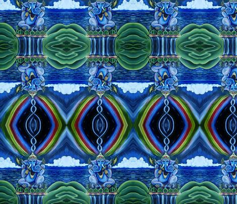 Rainbow Ganesh fabric by leahvanlutz on Spoonflower - custom fabric