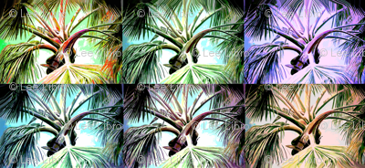 Palm Tree Collage Leahvanlutz Spoonflower