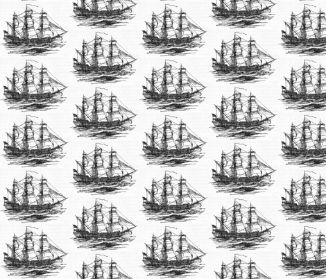 Clipper Ship fabric by leahvanlutz on Spoonflower - custom fabric
