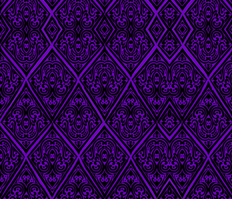 damaskpatchpurple fabric by sharpestudiosdesigns on Spoonflower - custom fabric