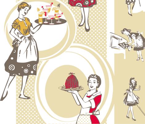 busy_retro_ladies fabric by johanna_design on Spoonflower - custom fabric