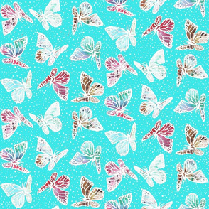 watercolor butterflies with pin dots