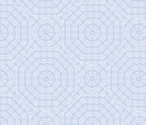 scallop_bluewhite fabric by glimmericks on Spoonflower - custom fabric