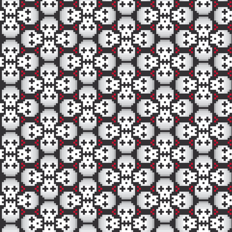 Pixelated skulls fabric by petitspixels on Spoonflower - custom fabric