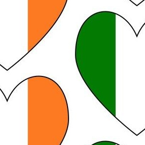 Irish Flag Heart Valentine