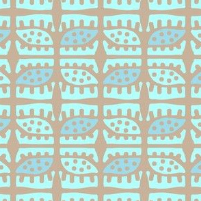 Dotty Pods (aqua, sky & linen)