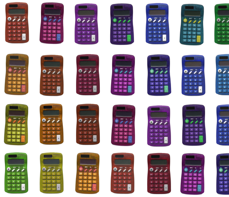rainbow calculators fabric by weavingmajor on Spoonflower - custom fabric