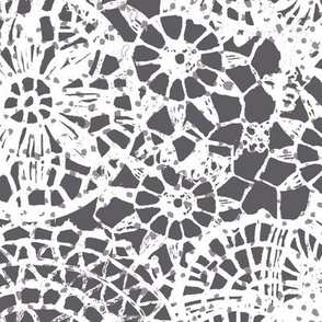doilies white and small dots