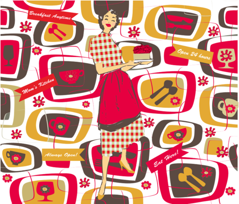 MOM'S KITSCHY KITCHEN fabric by deeniespoonflower on Spoonflower - custom fabric