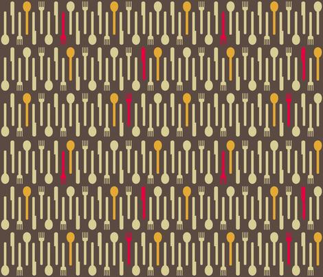 Cutlery by Elle et Moi fabric by elleetmoi on Spoonflower - custom fabric
