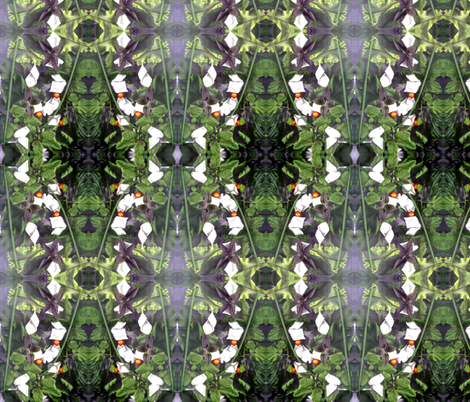 Early May Garden Down South fabric by carmenscottagecreations on Spoonflower - custom fabric