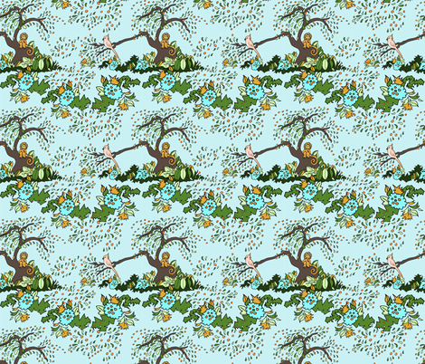 Jungle Monkey fabric by leahvanlutz on Spoonflower - custom fabric