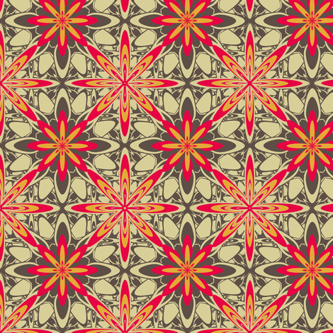 RetroDaisey fabric by grannynan on Spoonflower - custom fabric