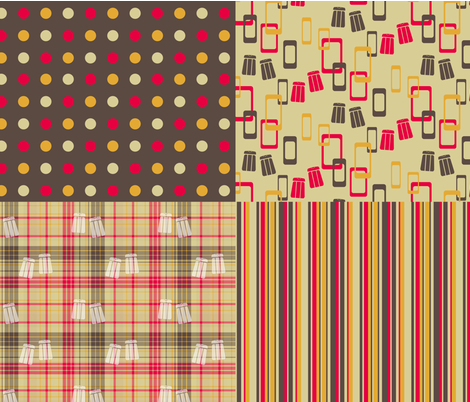 Shelli's Salt 'n Pepper 4-in-1 fabric by evenspor on Spoonflower - custom fabric