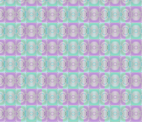 deux-visages  aqua lilac fabric by jojocadelle on Spoonflower - custom fabric