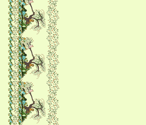 Jungle Monkey Border fabric by leahvanlutz on Spoonflower - custom fabric