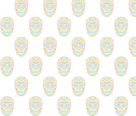 Calavera Sugar Skull fabric by carinaenvoldsenharris on Spoonflower - custom fabric
