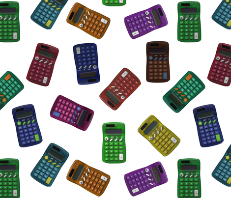 calculator toss fabric by weavingmajor on Spoonflower - custom fabric